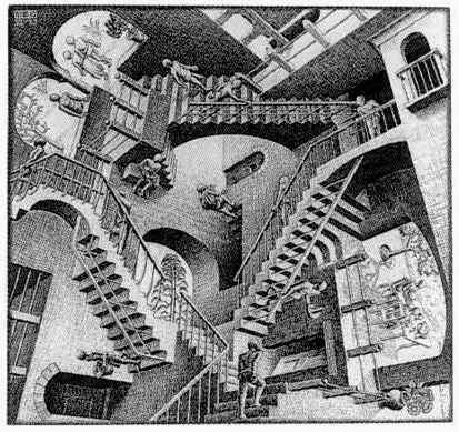 [Image: Maurits_Cornelis_Escher--Relativity.jpg]